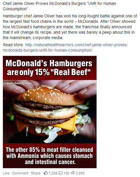 McDonalds brought down by Jamie Oliver